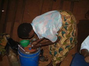 Aziza omari  preparing morphine