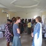 Mhoira Leng and Fran Ashby at the Training for Trainers held in Tanga in November 2012